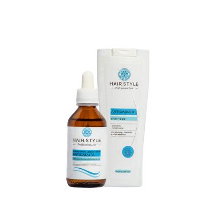 Kit Anticaduta - Fiala e Shampoo anticaduta stimolante e rivitalizzante - Almagreen - Cosmetica al Naturale