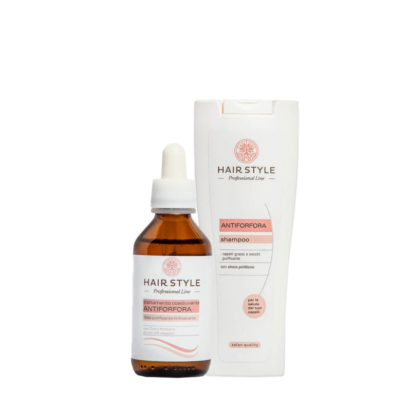 Kit Antiforfora - Fiala e Shampoo antiforfora purificante - Almagreen - Cosmetica al Naturale