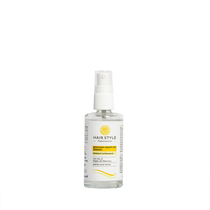 Gocce di argan nutrienti per capelli - Almagreen - Cosmetica al Naturale