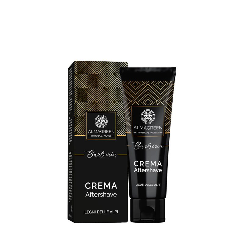 Dopo barba crema naturale idratante emolliente e lenitiva - profumo Legni delle Alpi - Almagreen
