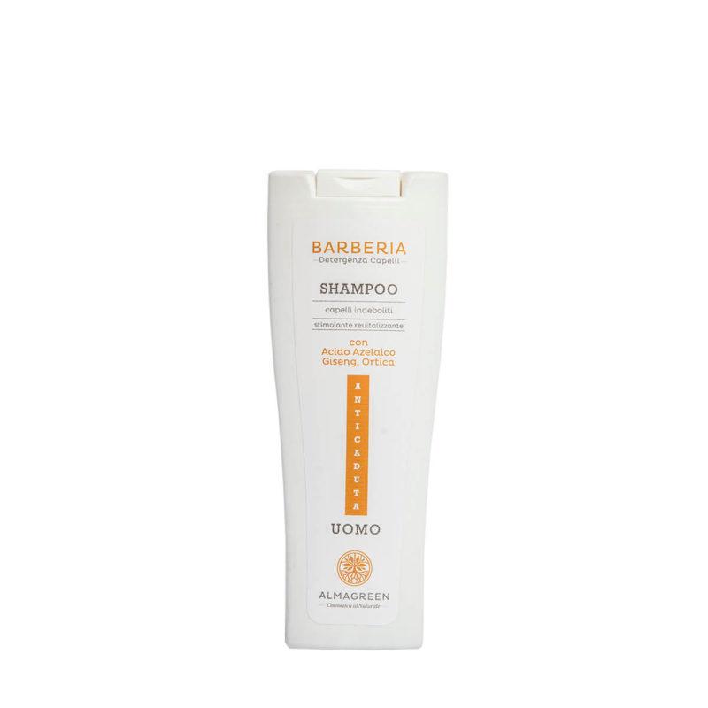 Shampoo anticaduta uomo rivitalizzante - Almagreen - Cosmetica al Naturale