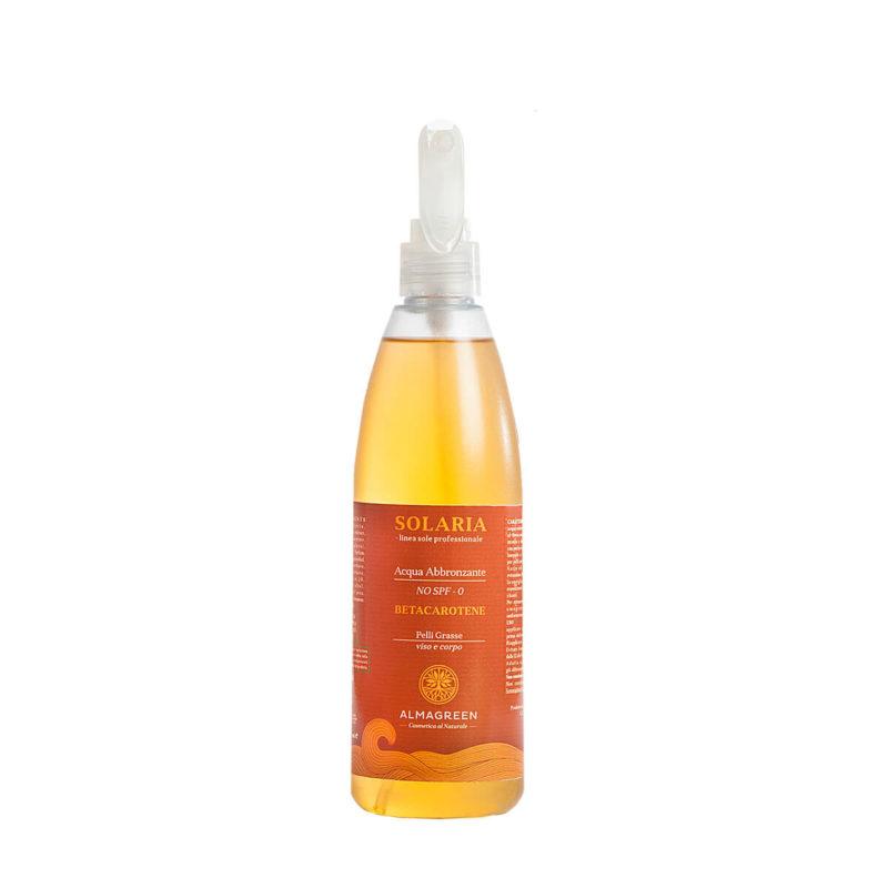 Acqua solare abbronzante pelli grasse - Almagreen - Cosmetica al Naturale