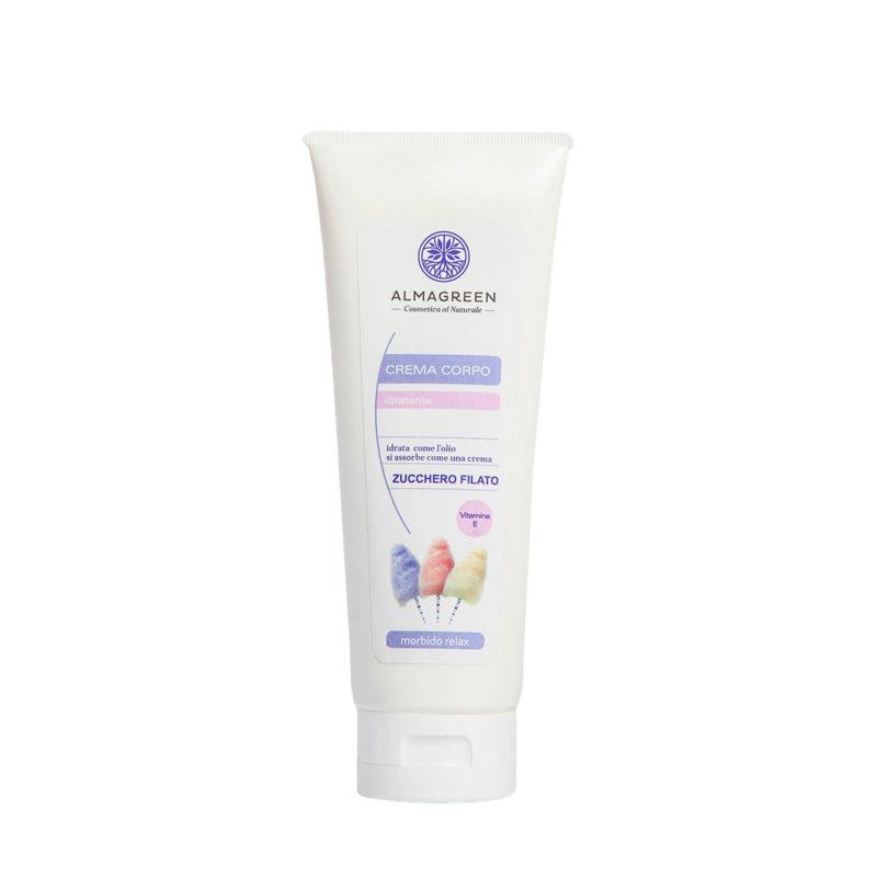 Crema idratante zucchero filato morbido relax - Almagreen - Cosmetica al Naturale