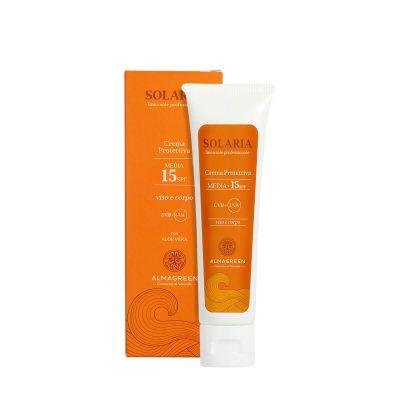 Crema solare protettiva media SPF 15 - Almagreen - Cosmetica al Naturale