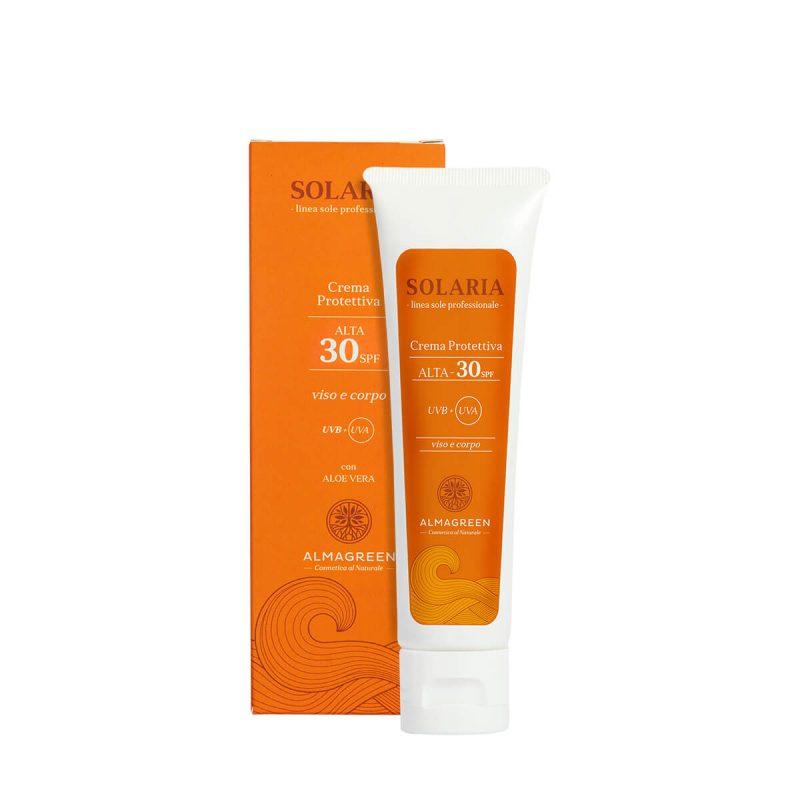 Crema solare protettiva alta SPF 30 - Almagreen - Cosmetica al Naturale