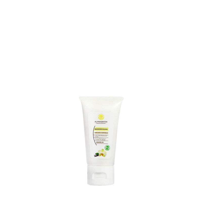 Bagnoschiuma BIO idratante vaniglia 50 ml - Almagreen - Cosmetica al Naturale