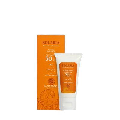 Crema solare protettiva altissima SPF 50 - Almagreen - Cosmetica al Naturale