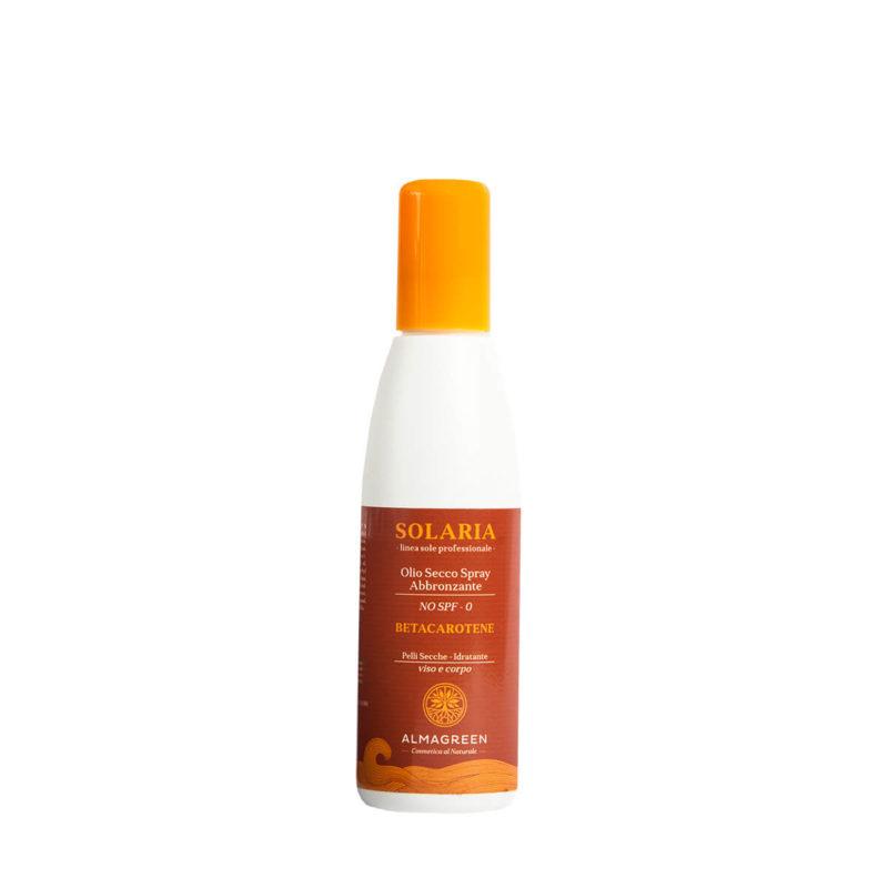 Olio solare secco abbronzante pelli grasse - Almagreen - Cosmetica al Naturale