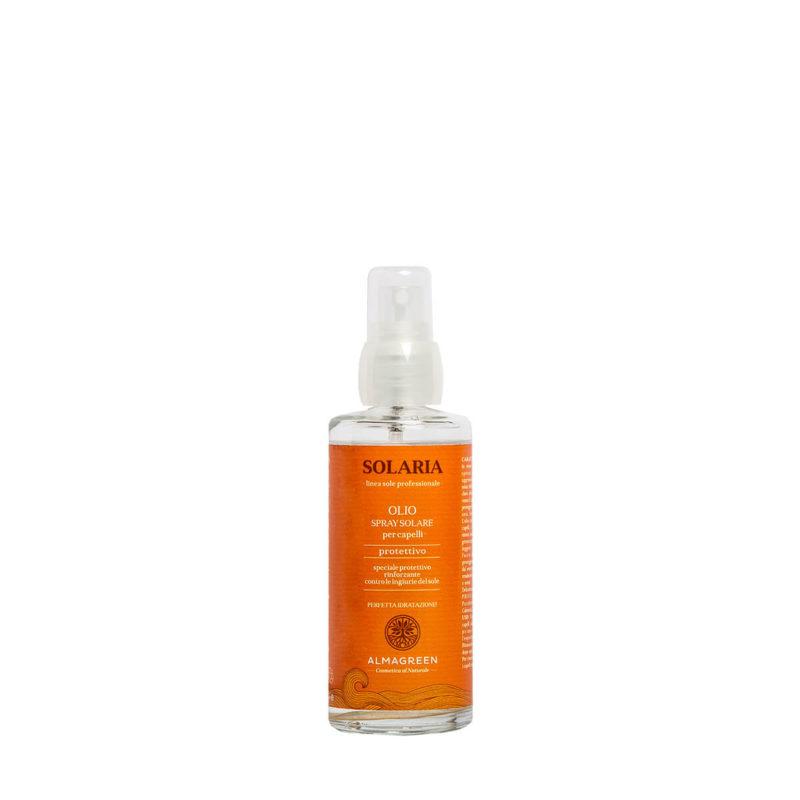 Olio solare spray protettivo capelli - Almagreen - Cosmetica al Naturale