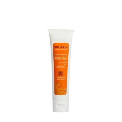 Crema solare protettiva bassa SPF 6 - Almagreen - Cosmetica al Naturale