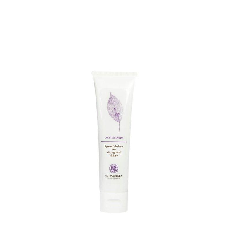 Spuma viso esfoliante con microgranuli - Almagreen - Cosmetica al Naturale