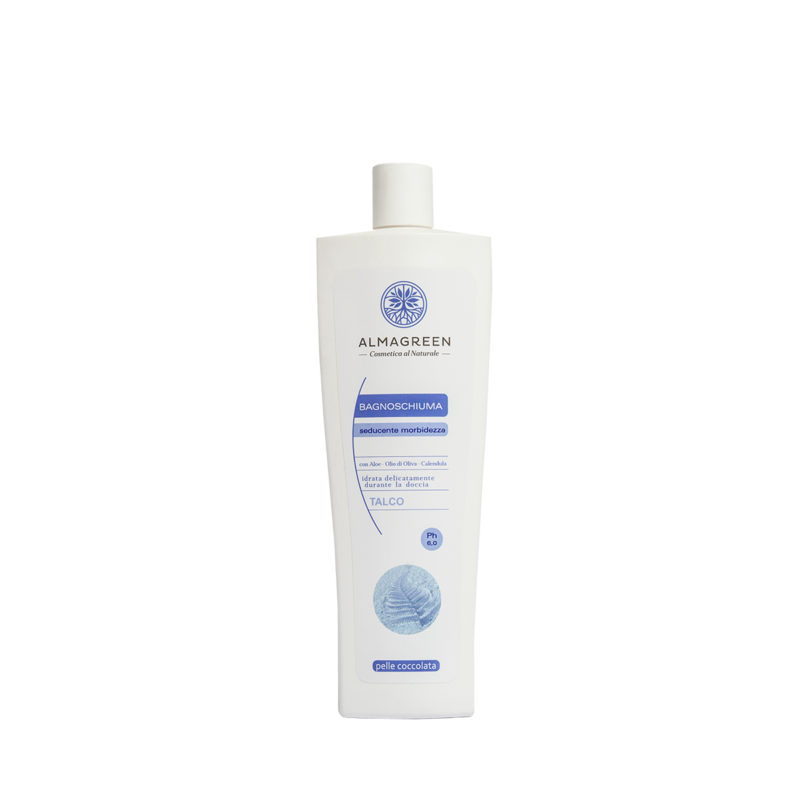 Bagnoschiuma BIO idratante talco - Almagreen - Cosmetica al Naturale - www.almagreen.com