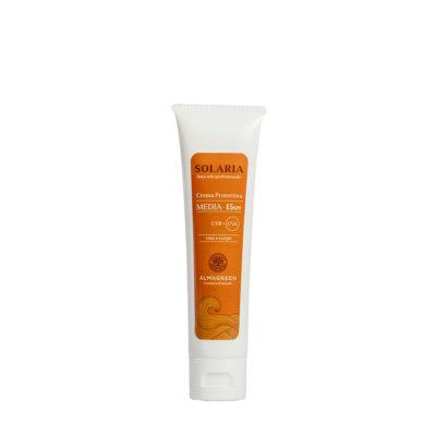 Crema solare protettiva media SPF 15 - Almagreen - Cosmetica al Naturale - www.almagreen.com