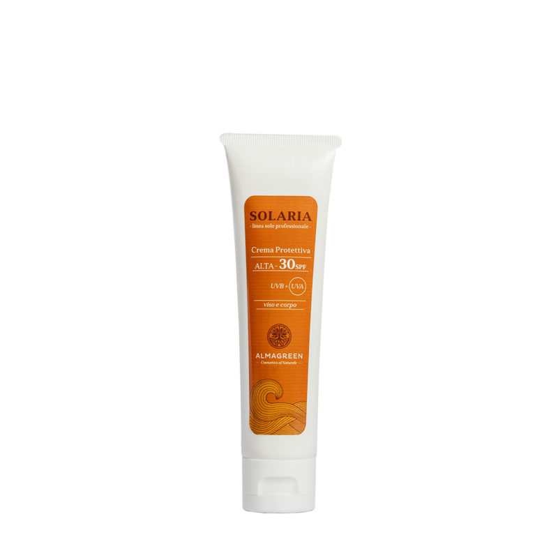 Crema solare protettiva alta SPF 30 - Almagreen - Cosmetica al Naturale - www.almagreen.com