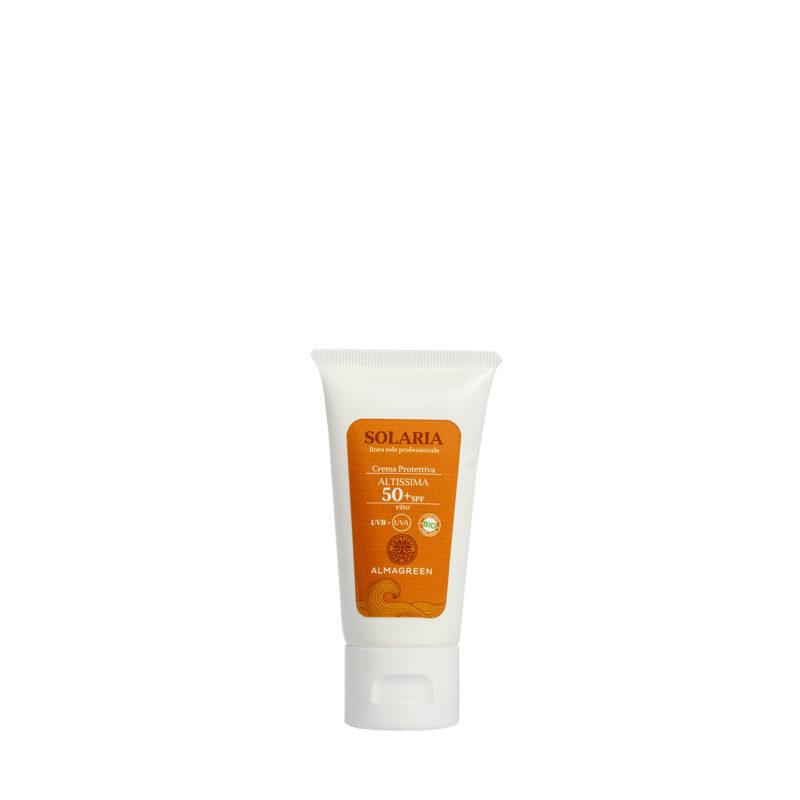 Crema solare protettiva altissima SPF 50 - Almagreen - Cosmetica al Naturale - www.almagreen.com