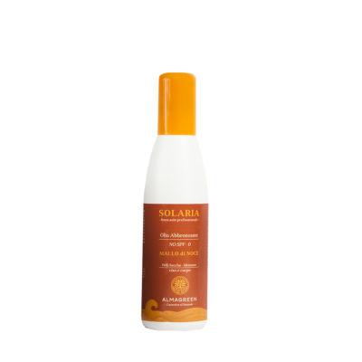 Olio solare secco abbronzante pelli secche - Almagreen - Cosmetica al Naturale - www.almagreen.com