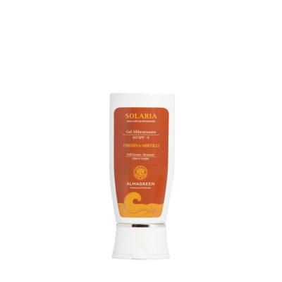 Hydro gel solare abbronzante pelli grasse - Almagreen - Cosmetica al Naturale - www.almagreen.com