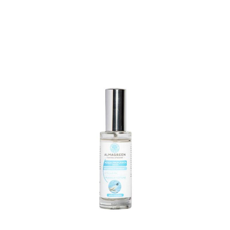 Acqua profumata piuma BIO di cotone - Almagreen - Cosmetica al Naturale