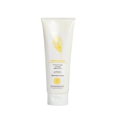 Crema corpo drenante per massaggi - Almagreen - Cosmetica al Naturale