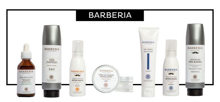 Scopri la linea Barberia di Almagreen, i prodotti naturali per l'uomo: prenditi cura in modo semplice ed efficacia di barba baffi e capelli