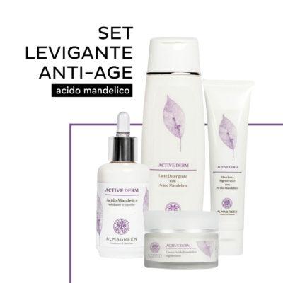 Set levigante anti età con acido mandelico - Almagreen - Cosmetica al Naturale