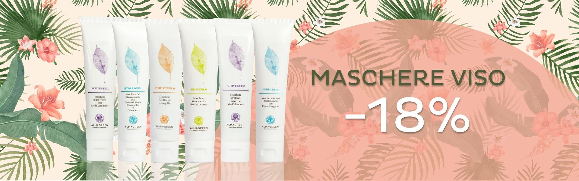 Acquista subito una maschera viso! Per te il 18% di sconto subito - Almagreen - Cosmetica al Naturale