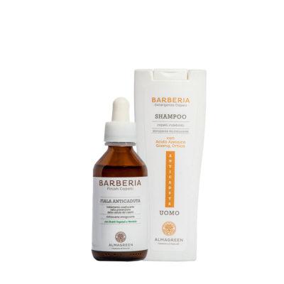 Kit fiala e shampoo anticaduta uomo - Almagreen - Cosmetica al Naturale