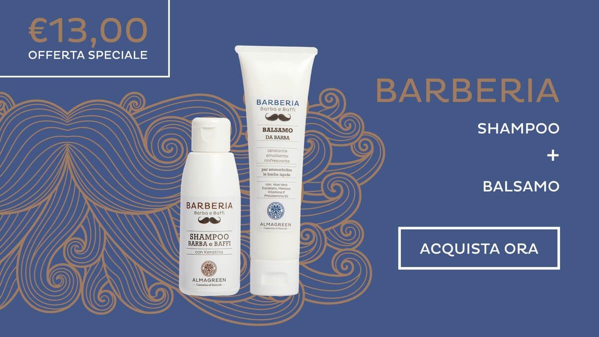 Offerta Kit Barba Shampoo idratante e Balsamo emolliente. Formulazione BIO.