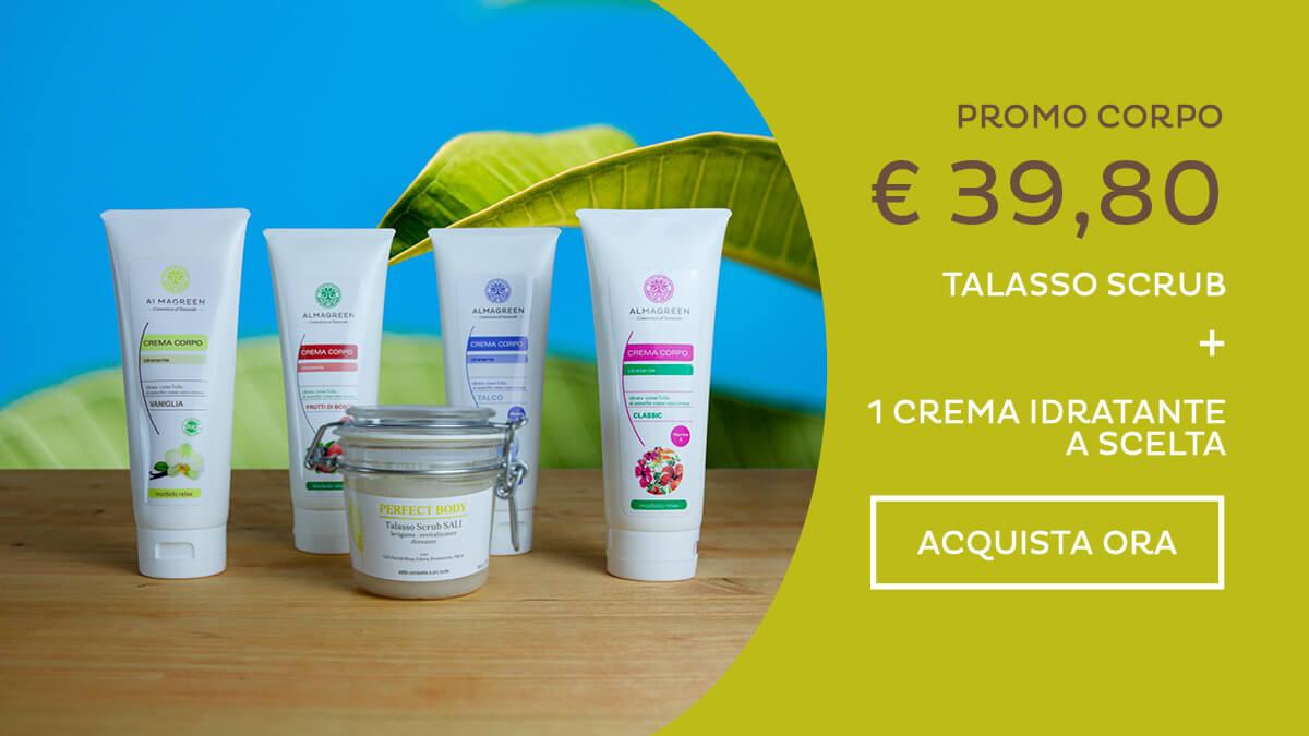 Kit Scrub esfoliante drenante e Crema corpo naturale - Almagreen