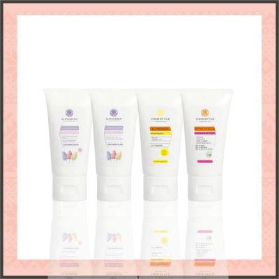 """Confezione Regalo Cosmetici Naturali: Kit Corpo e Capelli """"Zucchero Filato"""" - Almagreen"""