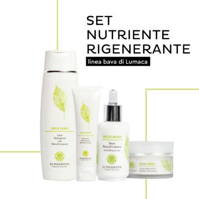 Set viso Linea Bava di lumaca nutriente rigenerante, cosmetici naturali - Almagreen