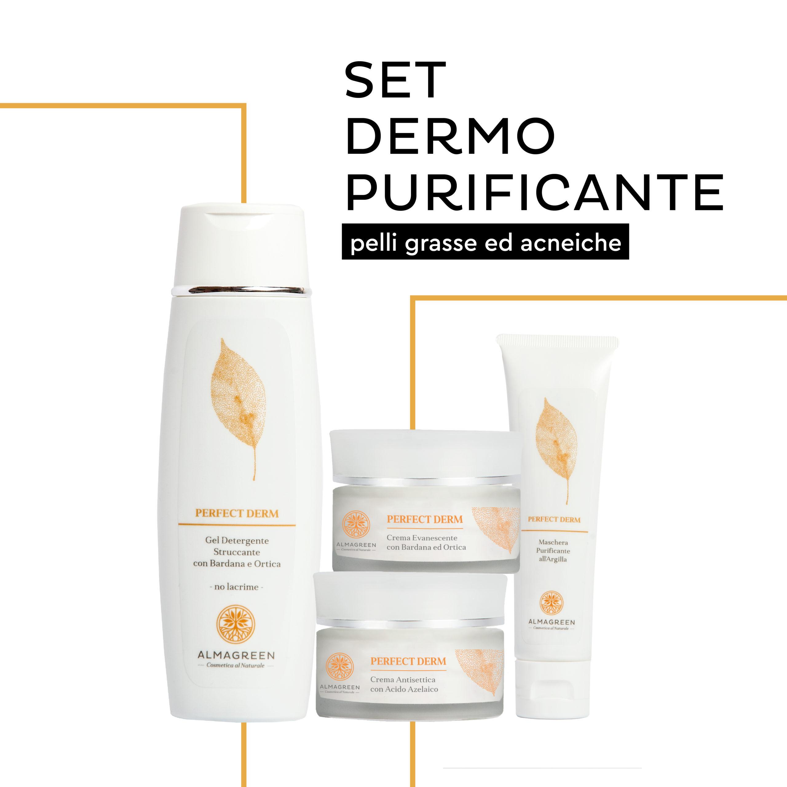 prodotti naturali viso purificanti per pelli grasse e acneiche - Almagreen