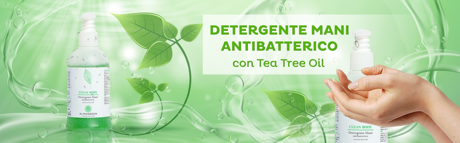 Detergente antibatterico naturale mani con Tea Tree Oil - Almagreen
