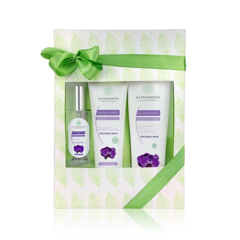 Confezione regalo prodotti naturali per il corpo orchidea Nera  Almagreen