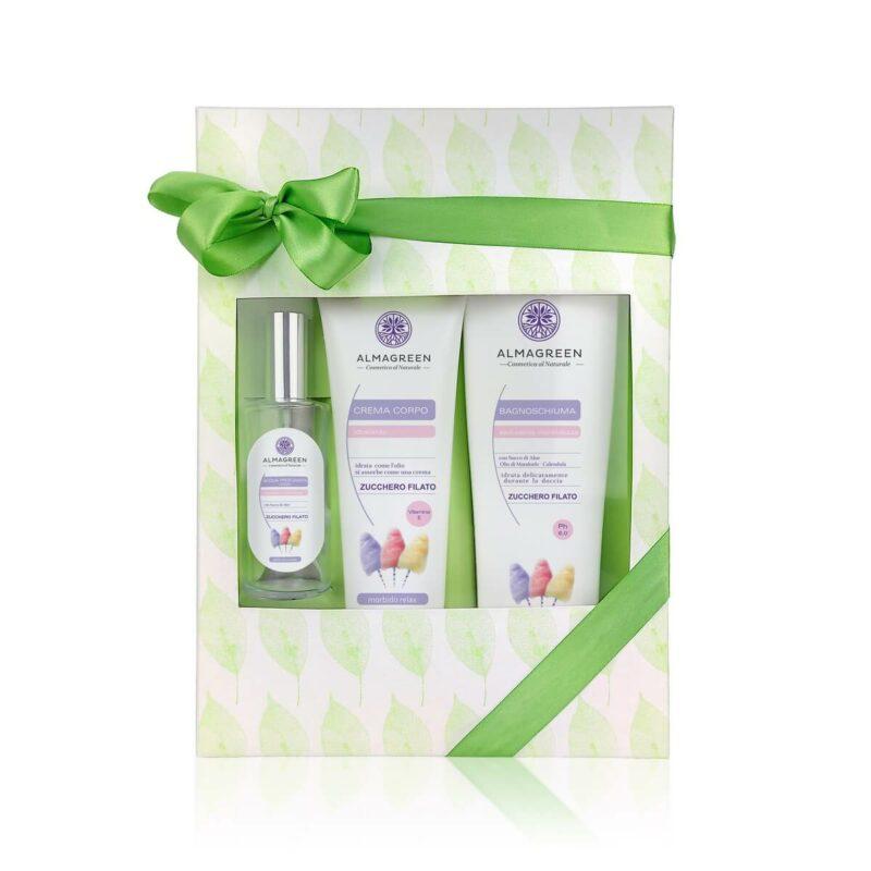 Confezione regalo prodotti naturali per il corpo Zucchero Filato | Almagreen