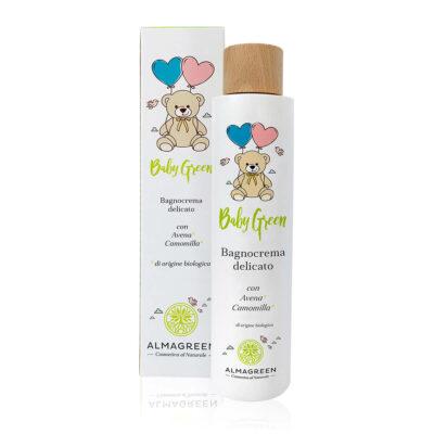Bagnocrema delicato neonati naturale con avena e camomilla - Almagreen