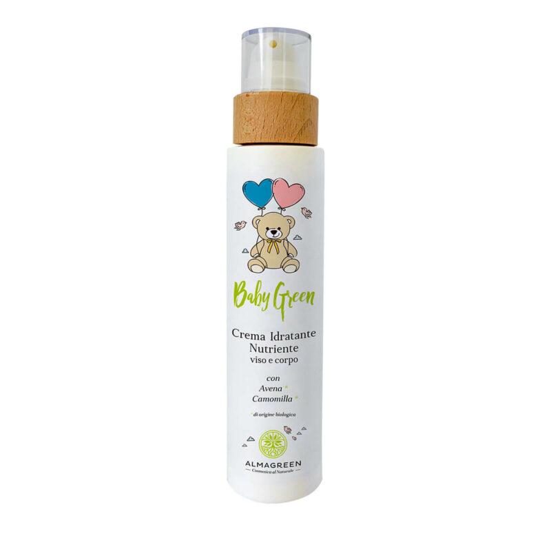 Crema idratante neonati viso e corpo con avena e camomilla - Almagreen