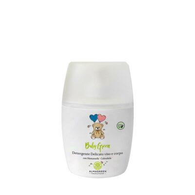 Detergente delicato neonati viso e corpo con Hamamelis e Calendula - Almagreen