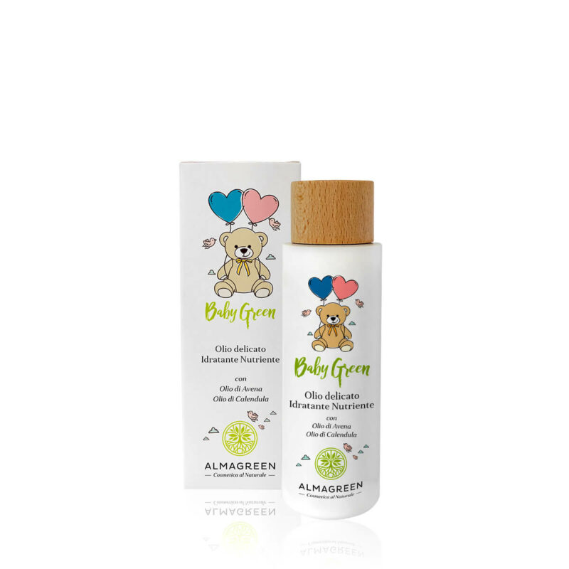 Olio delicato nutriente neonati con olio di avena e olio di calendula - Almagreen