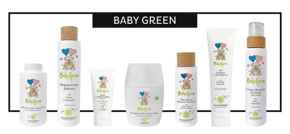 """Prodotti naturali per neonati """"Baby Green"""" - Almagreen"""