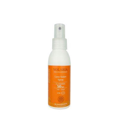 Latte solare protezione altissima SPF 50 con Calendula, Aloe Vera e Avena Biologiche - Almagreen - Cosmetica al Naturale